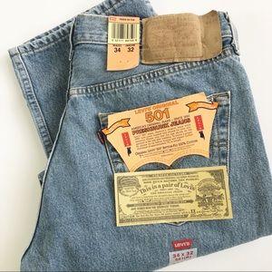 Levi's Original 501's 34x32 Preshrunk Jeans NWT